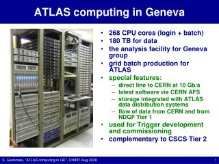 ATLAS  computing in Geneva