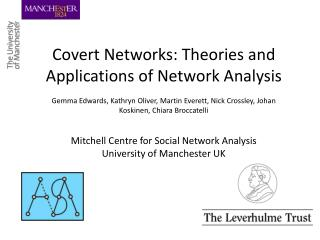 Covert Networks: Theories and Applications of Network Analysis