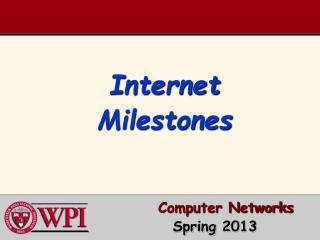 Internet Milestones