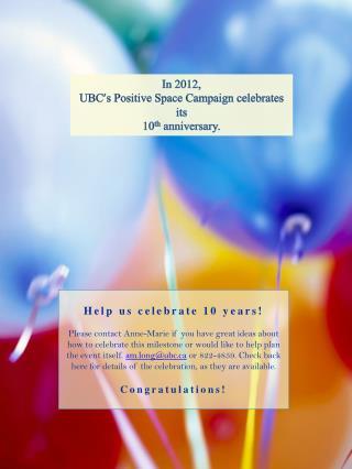 Help us celebrate 10  years!