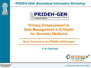 PRIDEH IST-2001-32647