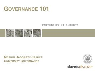 Marion Haggarty-France University Governance