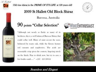Old vine shiraz in the  PRIME OF ITS LIFE  at  120  years old!