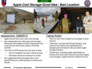 Apple Cool Storage-Good Idea / Bad Location