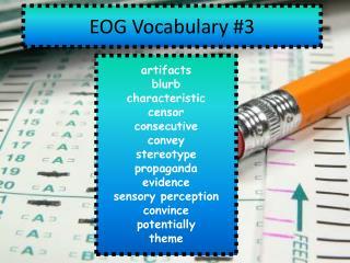 EOG  Vocabulary  #3