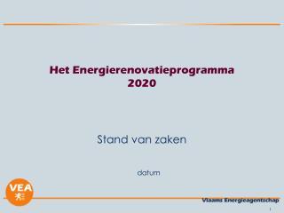 Het Energierenovatieprogramma 2020