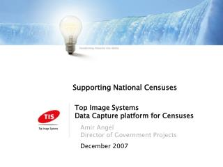 Top Image Systems Data Capture platform for Censuses