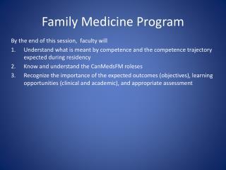 Family Medicine Program