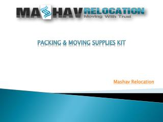 Packing & Moving Supplies Kit