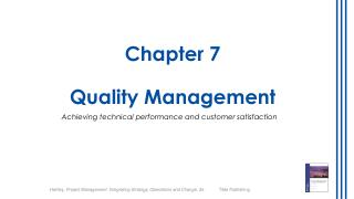 Chapter  7 Quality Management