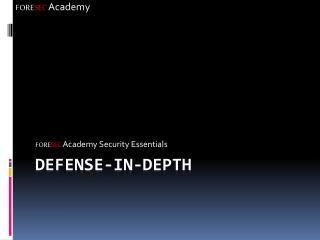 Defense-In-Depth