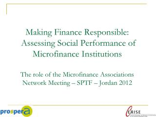 Microfinance knowledge exchange network focused on  Ethical and Responsible Finance