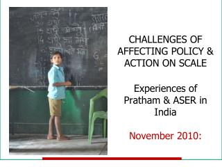 Universal elementary education in India…. So what is the problem?