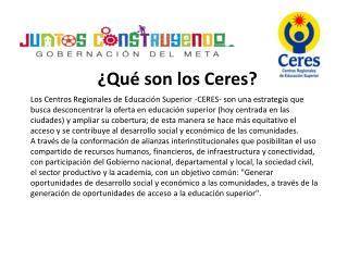 ¿Qué son los Ceres?