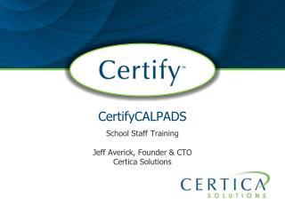 CertifyCALPADS