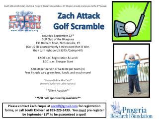 Zach Attack Golf Scramble