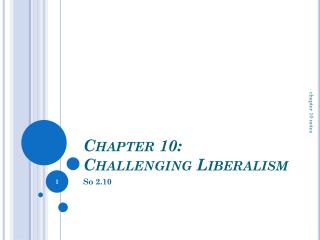 Chapter 10:  Challenging Liberalism