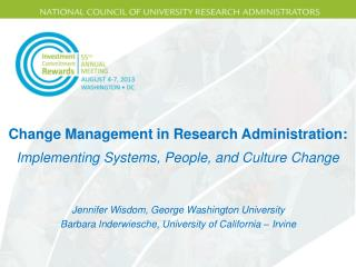 Change Management in Research Administration: