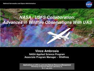 AMS Washington Forum Federal Panel  Michael H. Freilich 4 April 2013