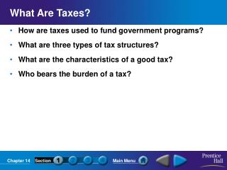 What Are Taxes