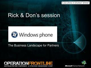 Rick & Don's session