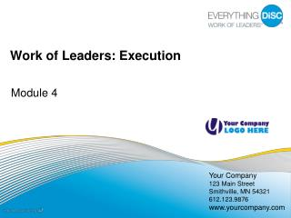 Work of Leaders: Execution