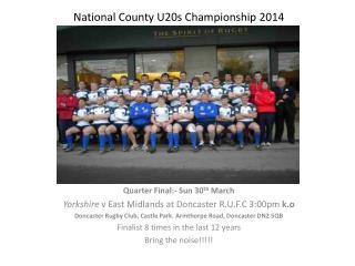 National County U20s Championship 2014