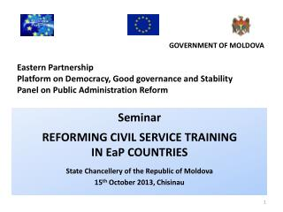 Seminar REFORMING CIVIL SERVICE TRAINING  IN EaP  COUNTRIES