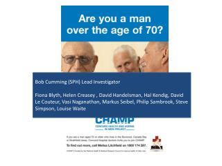 Bob  Cumming (SPH) Lead Investigator