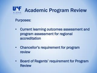 Academic Program Review