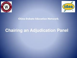 Chairing an Adjudication Panel