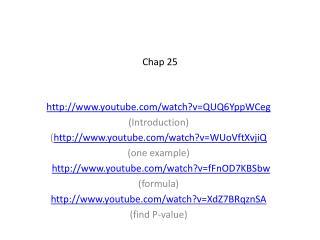 Chap 25