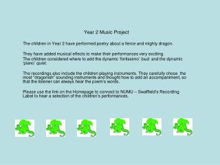 Year 2 Music Project