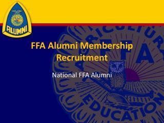 FFA Alumni Membership Recruitment