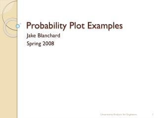 Probability  Plot Examples