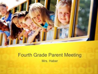 Fourth Grade Parent Meeting