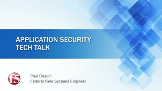 Application Security tech talk