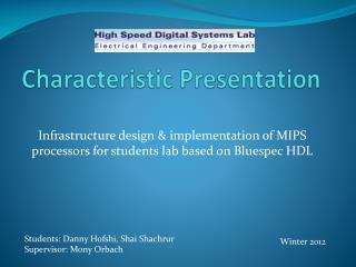 Characteristic Presentation