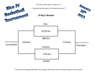 Rice JV  Basketball  Tournament