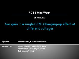 Gas gain in a single GEM: Charging-up effect at different voltages