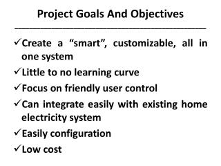 Project  Goals And  Objectives ____________________________________________________