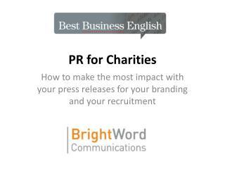 PR for Charities