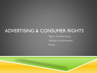 Advertising & Consumer Rights