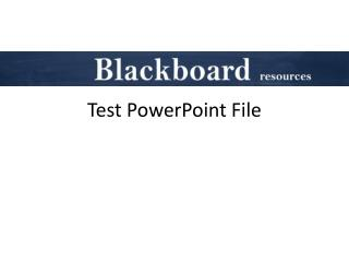 Test PowerPoint File