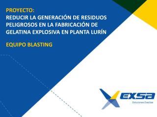 EQUIPO BLASTING