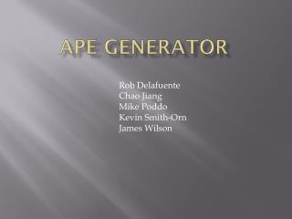 Ape Generator