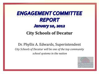 Engagement Committee report January 10, 2012