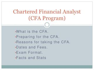 Chartered Financial Analyst (CFA Program)