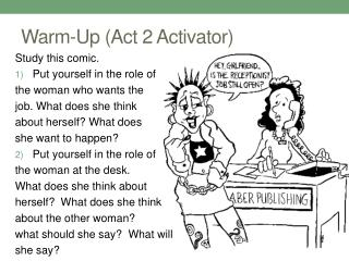 Warm-Up (Act 2 Activator)