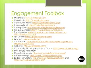 Engagement Toolbox